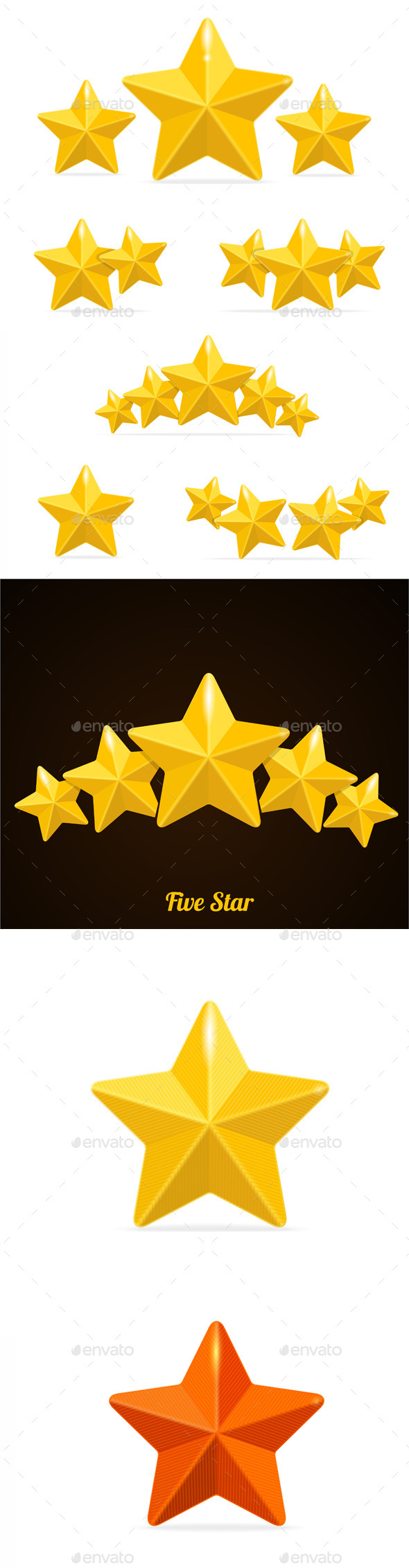 GraphicRiver Vector Rating Hotels Stars Concept 11452412