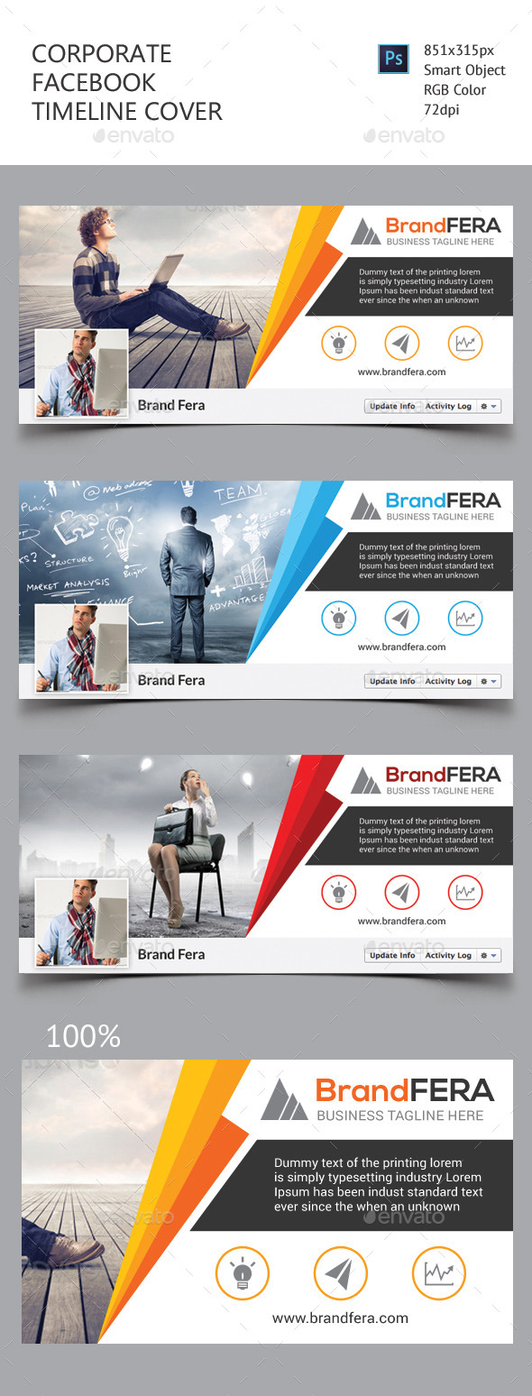 GraphicRiver Corporate Facebook Timeline Cover 11452438