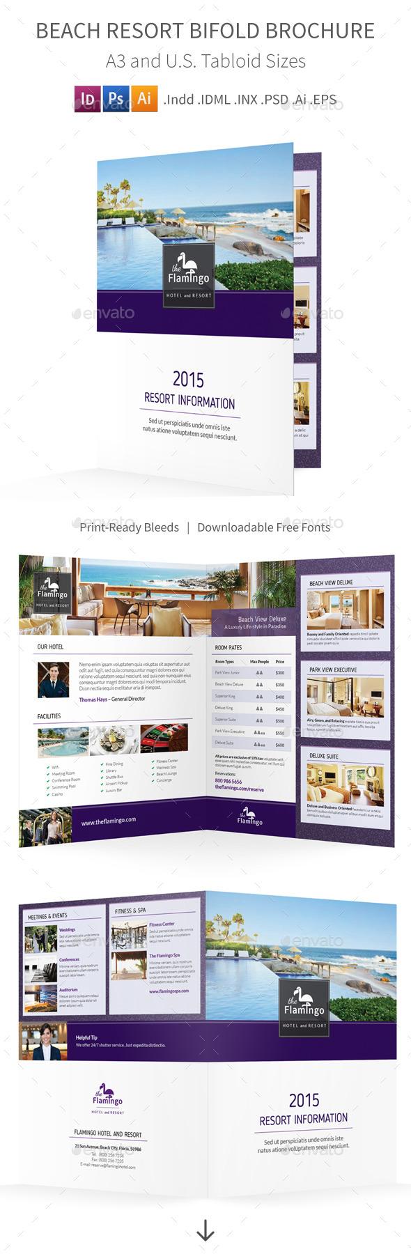 GraphicRiver Beach Resort Bifold Halffold Brochure 11452460