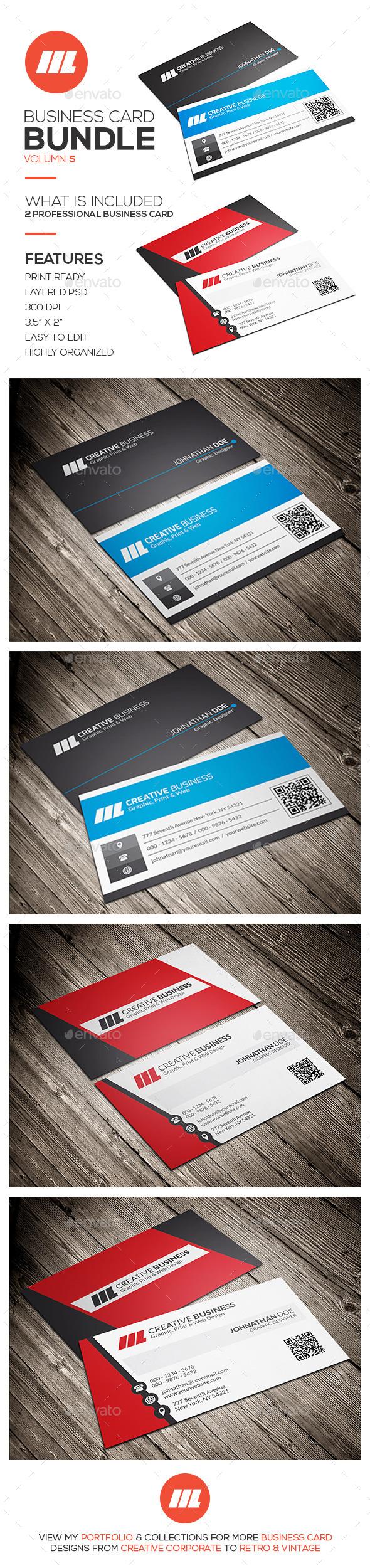 GraphicRiver Business Card Bundle Vol 5 11452502