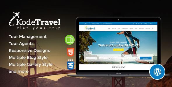 ThemeForest KodeTravel & Tourism Wordpress Theme 11408291
