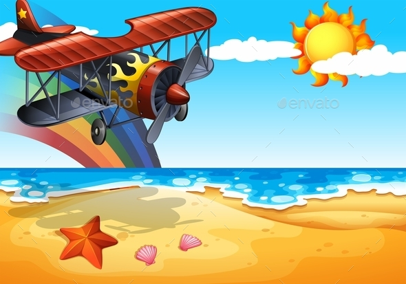 GraphicRiver Plane and Beach 11452605