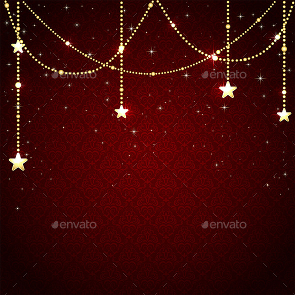 GraphicRiver Christmas Baubles on Red Background 11452648