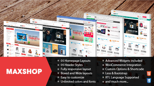 ThemeForest Maxshop Responsive WordPress WooCommerce Theme 11452732