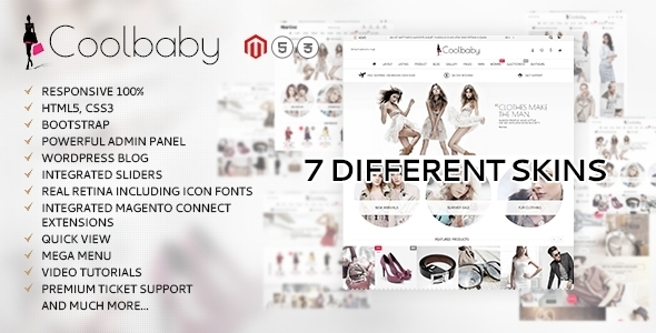 ThemeForest Coolbaby original Magento theme 11406431