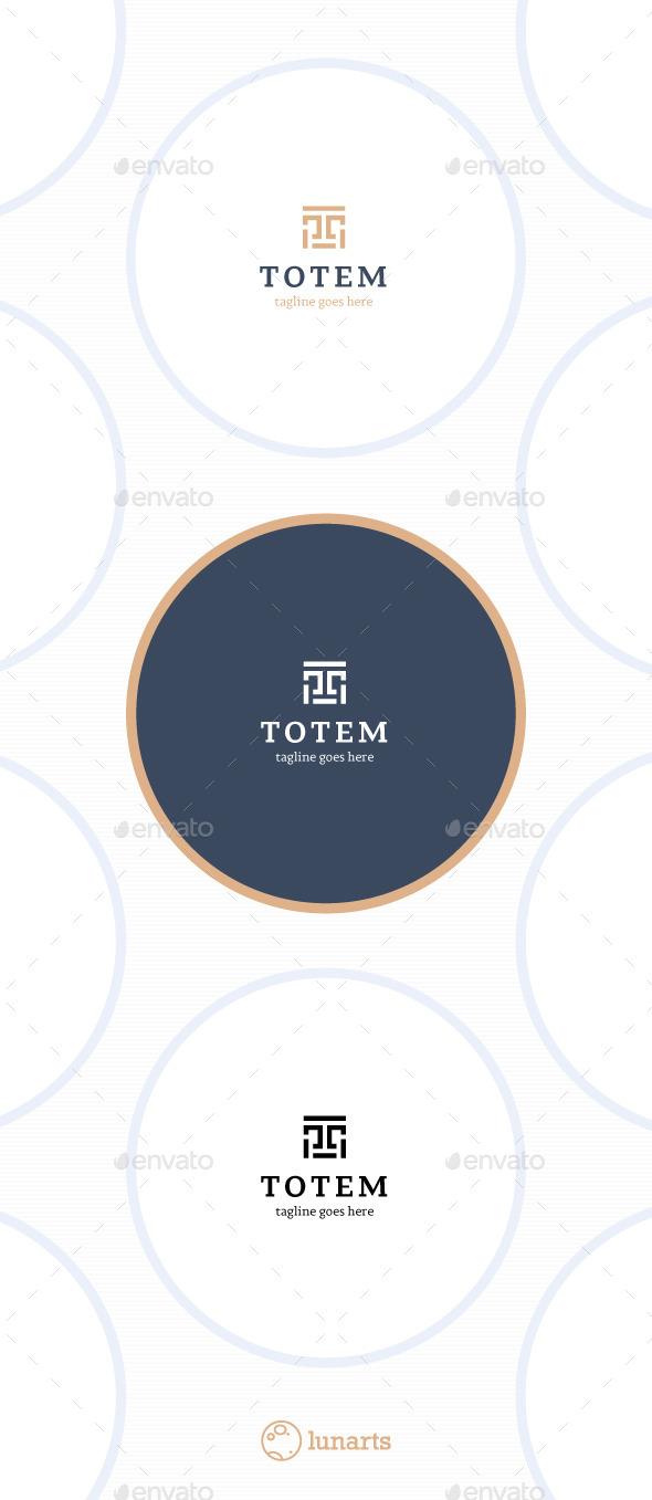 GraphicRiver Totem Logo Letter T 11452858