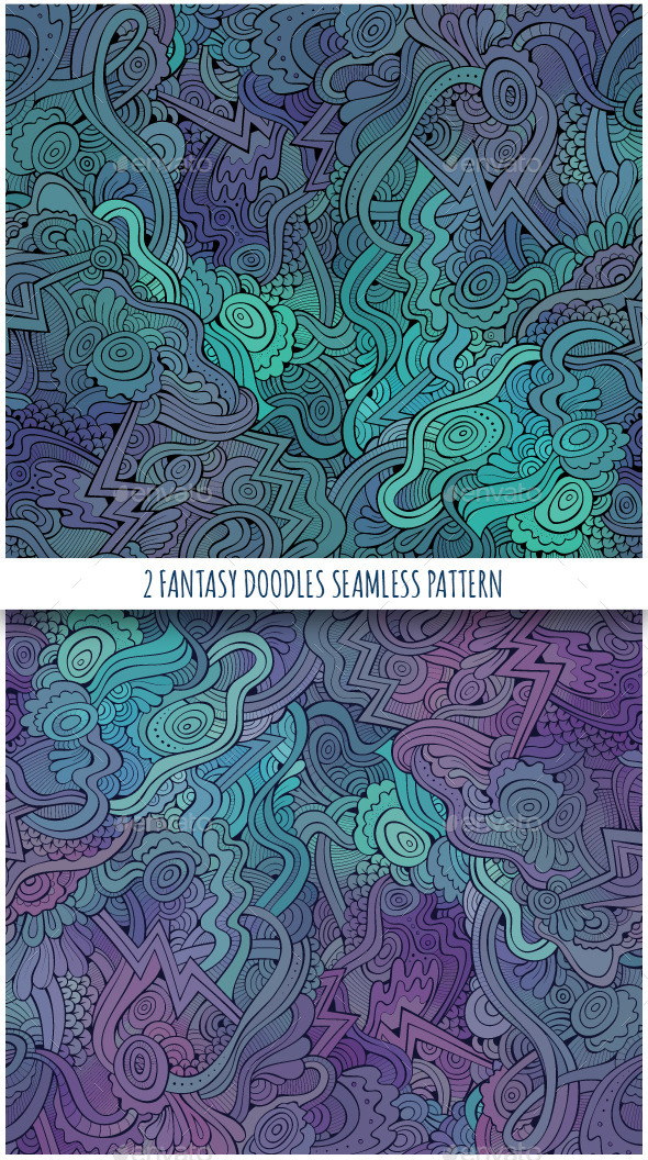 GraphicRiver 2 Fantasy Seamless Patterns 11452924