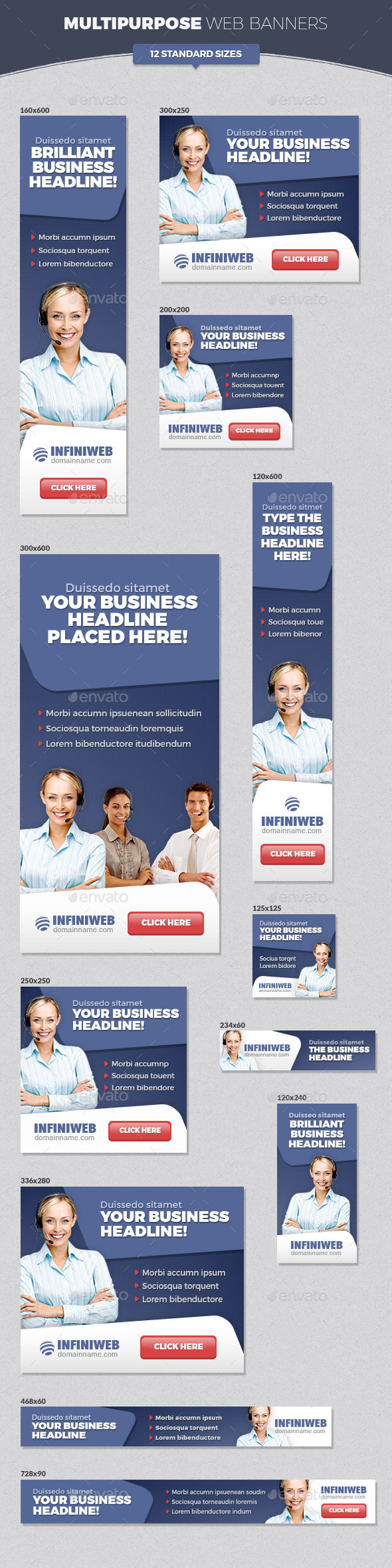 GraphicRiver Multipurpose Web Banners 11453044