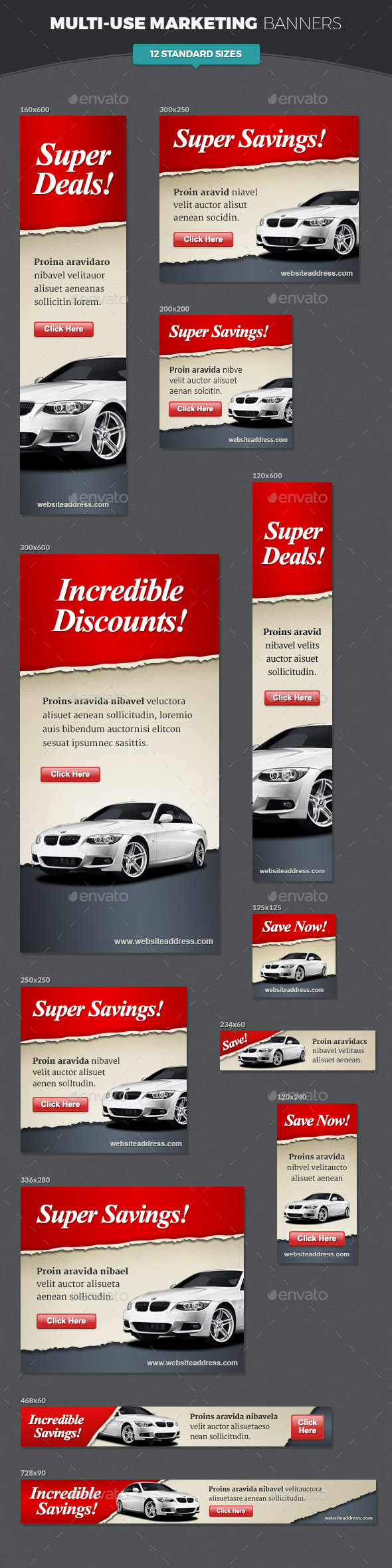 GraphicRiver Multi-use Marketing Banners 11453074