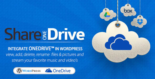 CodeCanyon Share-one-Drive OneDrive plugin for WordPress 11453104