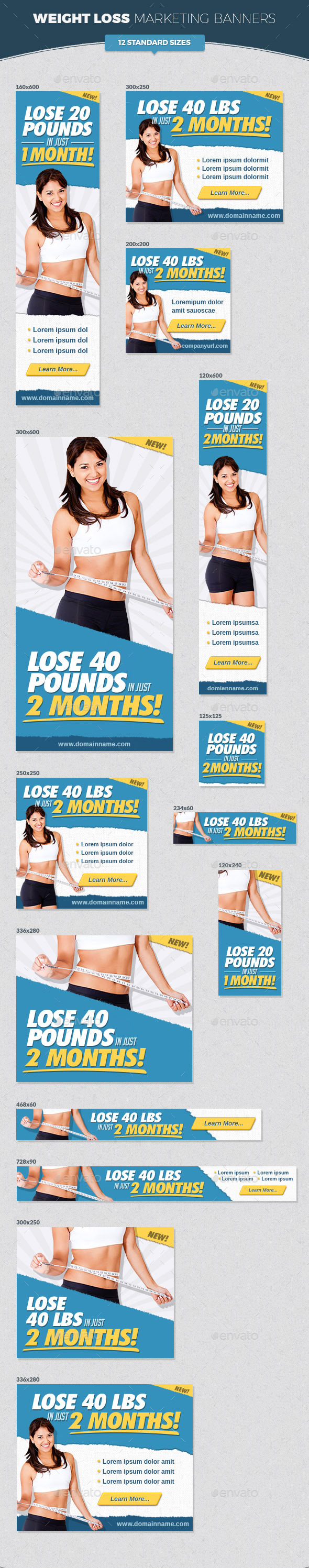 GraphicRiver Weight Loss Marketing Banners 11453114