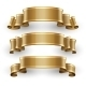 Gold Glossy Vector Ribbons - GraphicRiver Item for Sale
