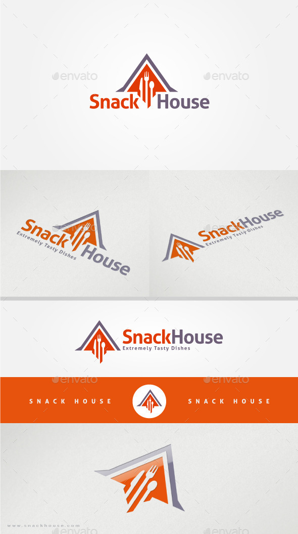 GraphicRiver Snack House Restaurant Logo Template 11453147