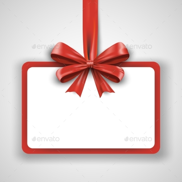 GraphicRiver Red Ribbon With Bow Isolated On White Background 11453187