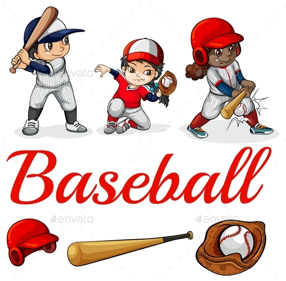 GraphicRiver Baseball Players 11453189