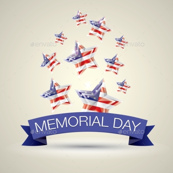 GraphicRiver Memorial Day With Star In National Flag Colors 11453199