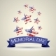 Memorial Day With Star In National Flag Colors - GraphicRiver Item for Sale