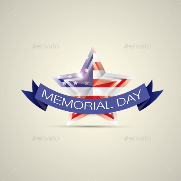 GraphicRiver Memorial Day With Star In National Flag Colors 11453203