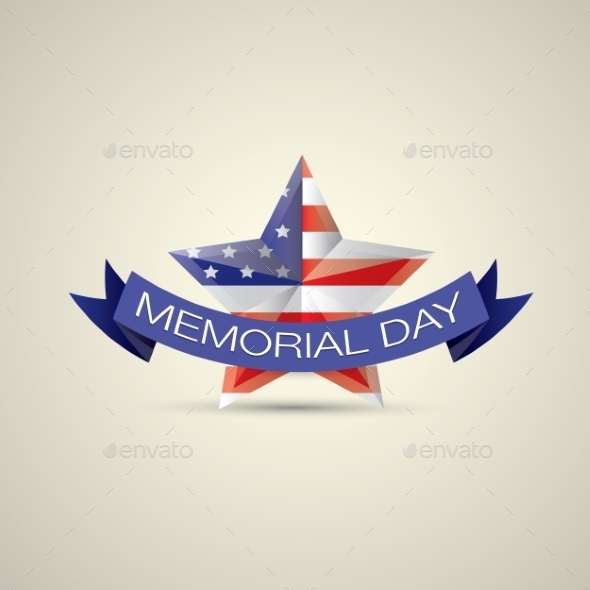 GraphicRiver Memorial Day With Star In National Flag Colors 11453213