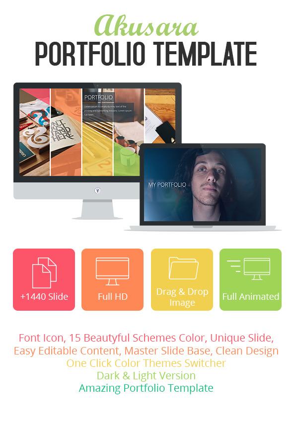GraphicRiver Akusara Portfolio Powerpoint Template 11453243