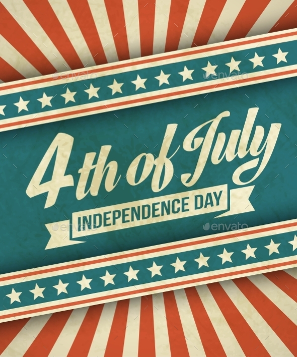 GraphicRiver Retro Typography Card Independence Day Vector 11453245