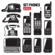 Phone Set. Modern And Old Telephone - GraphicRiver Item for Sale