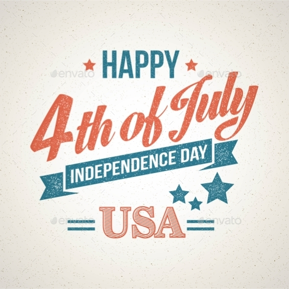 GraphicRiver Retro Typography Card Independence Day Vector 11453260