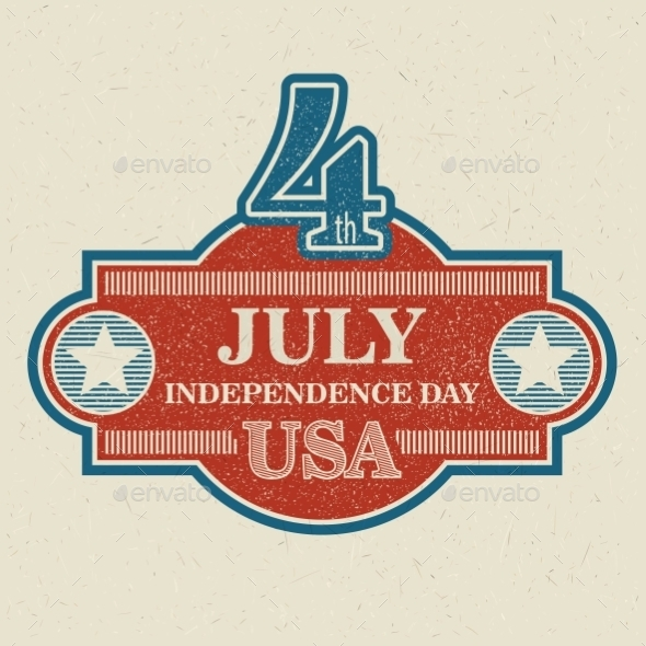 GraphicRiver Retro Typography Card Independence Day Vector 11453293