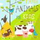 Funny Cartoon Farm Animals Greeting Card - GraphicRiver Item for Sale