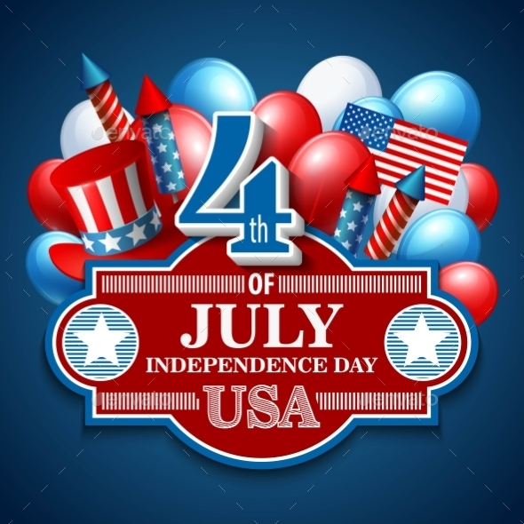 GraphicRiver American Independence Day Festive Vector 11453300