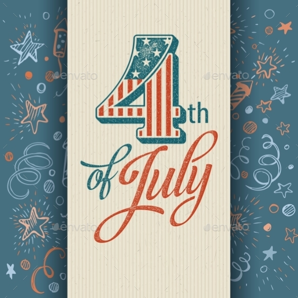 GraphicRiver Retro Typography Card Independence Day Vector 11453308