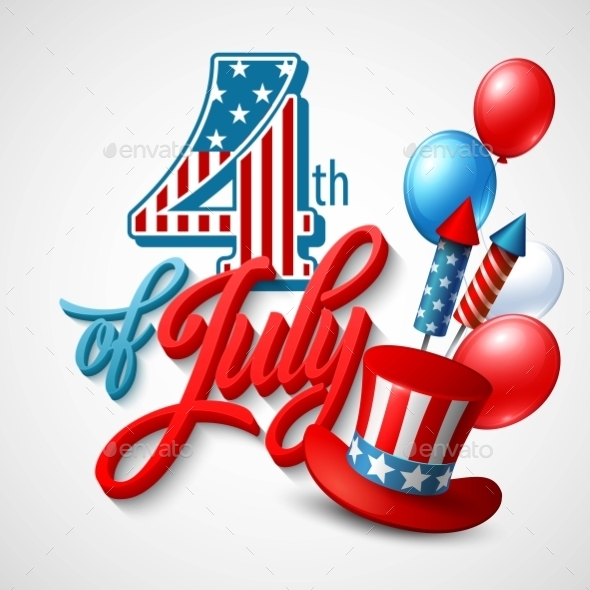 GraphicRiver American Independence Day Festive Vector 11453324