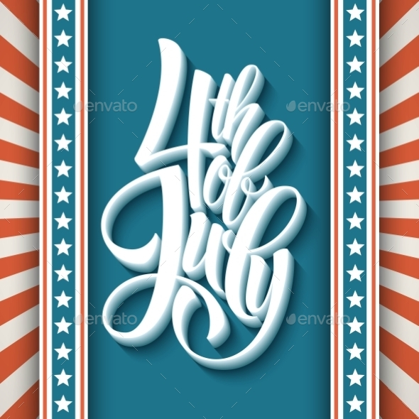 GraphicRiver 4Th Of July Dn American Independence Typography 11453333