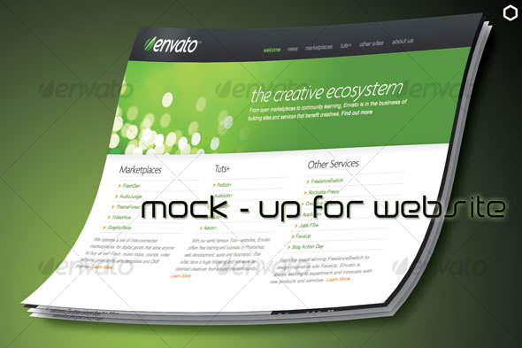 Mock-Up Website - Website Displays