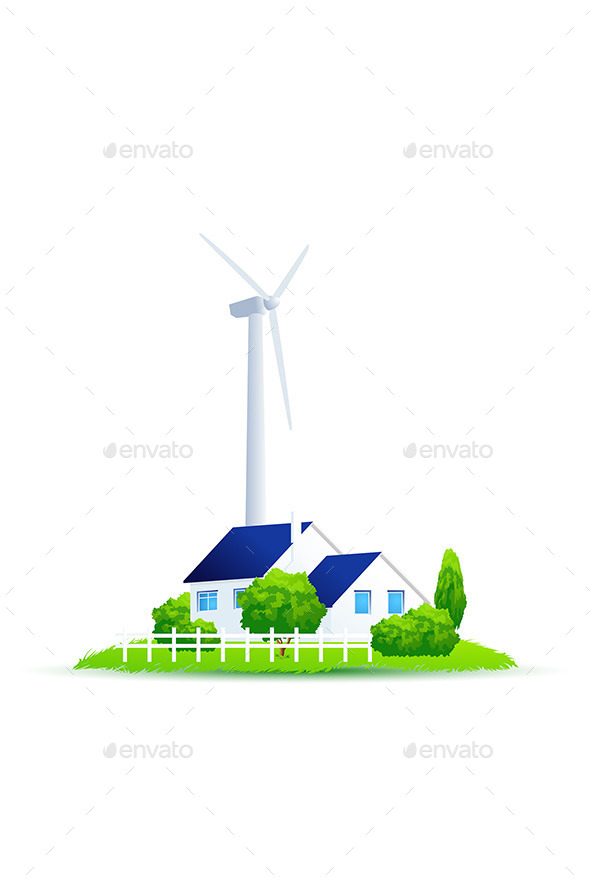 GraphicRiver Illustration of Green Energy for the House 11453425