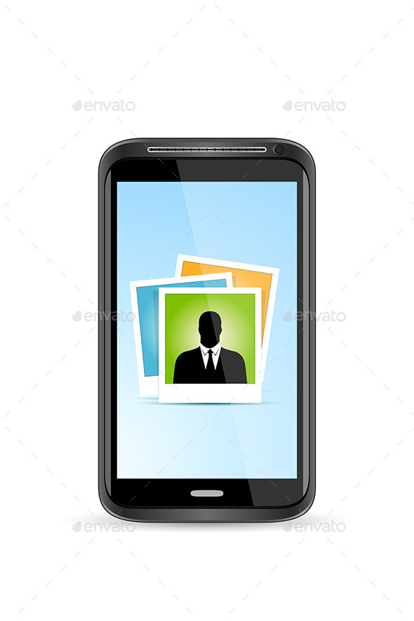 GraphicRiver Touch Screen Smart Phone with Icon of Photo App 11453450