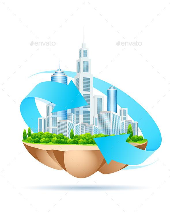 GraphicRiver Modern City on Island 11453472