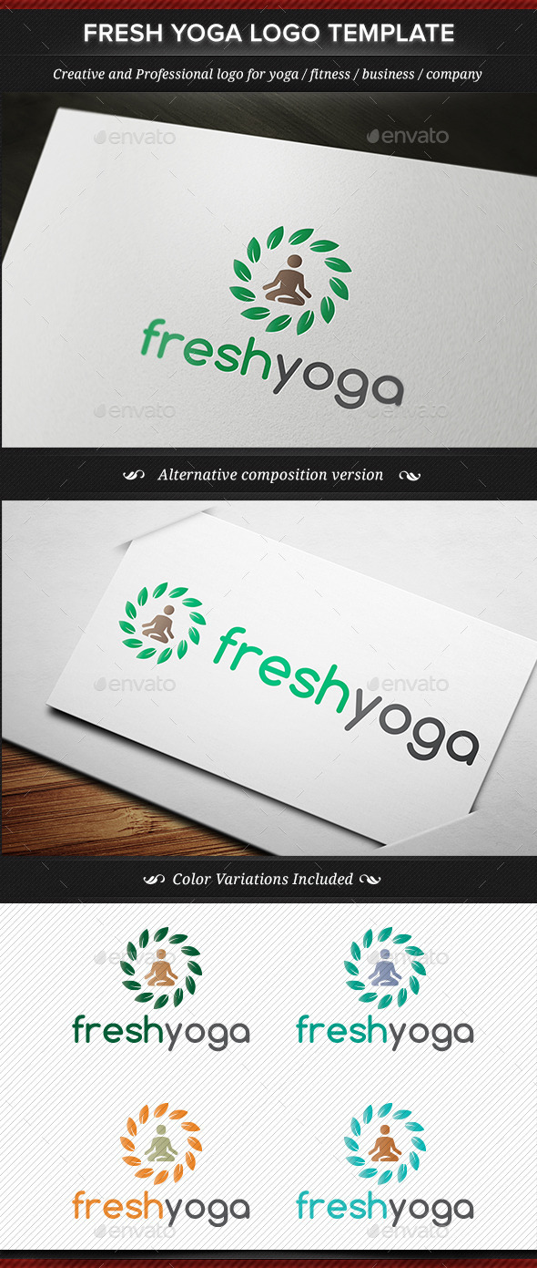 GraphicRiver Fresh Yoga Logo Template 11452618