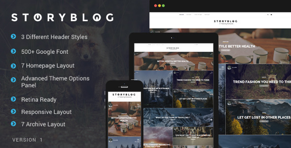 ThemeForest StoryBlog WordPress Theme for Story Tellers 11395307
