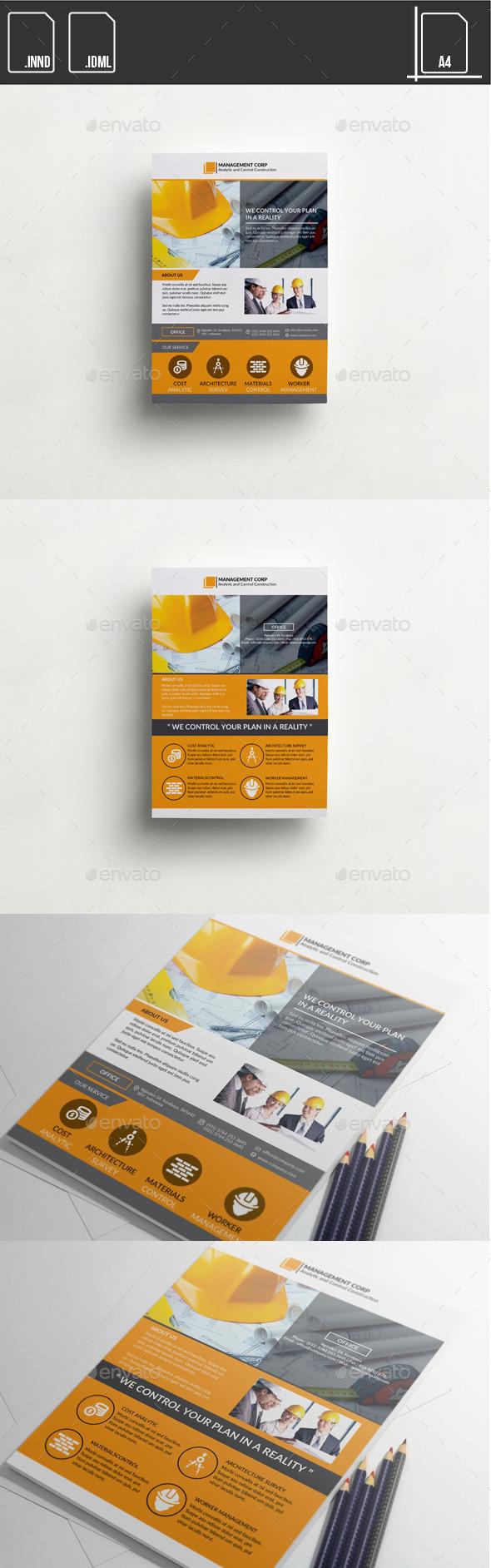 GraphicRiver Flyer Management Control Construction 11453516
