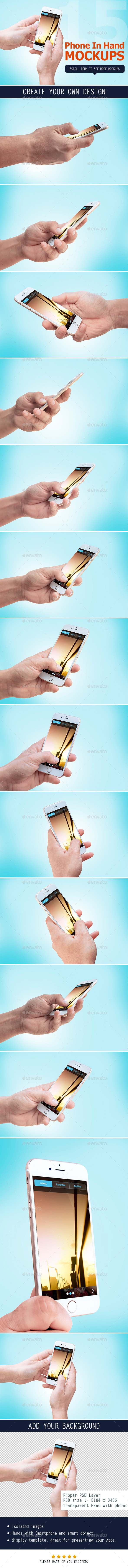 GraphicRiver Smartphone in Hand Mockup 11453586