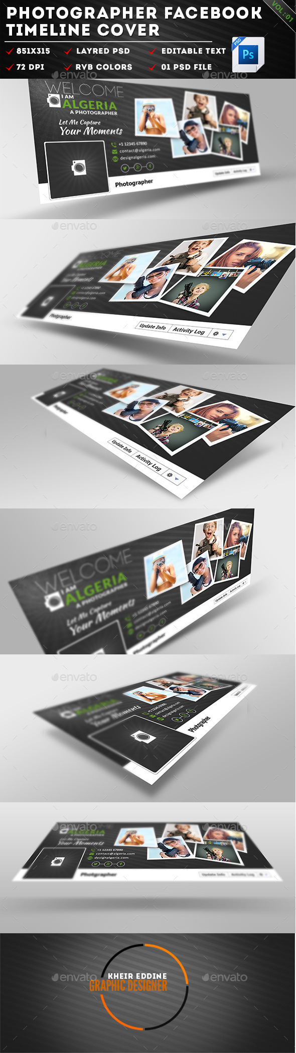GraphicRiver Photographers Facebook Timeline Cover Vol01 11453590