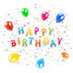 Happy Birthday Background with Balloons - GraphicRiver Item for Sale