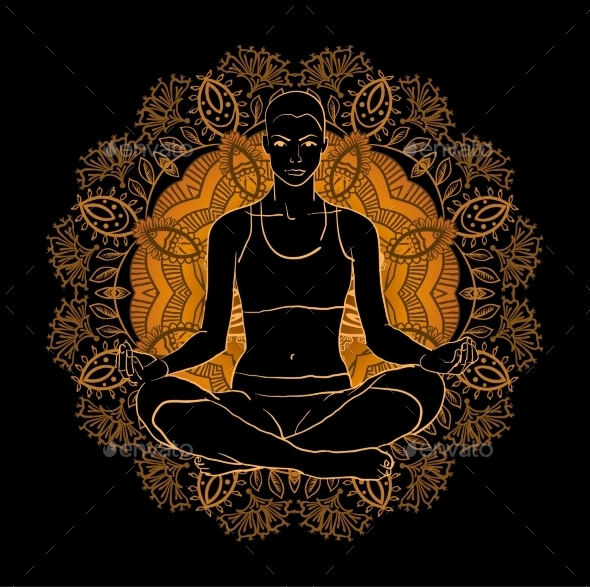GraphicRiver Beautiful Woman Doing Yoga Meditation 11453656