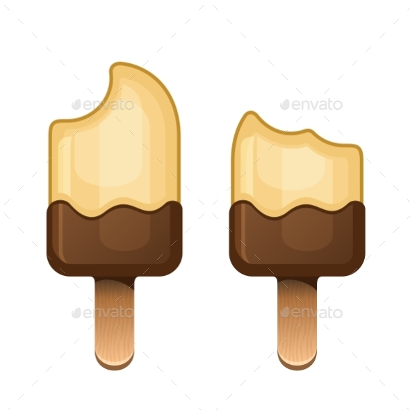 GraphicRiver Chocolate Icecream Dessert Set On Wooden Stick 11453707
