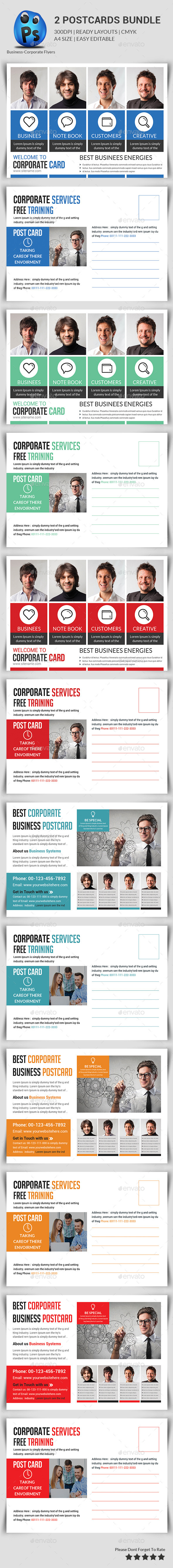 GraphicRiver Corporate Business Postcard Bundle 11453710