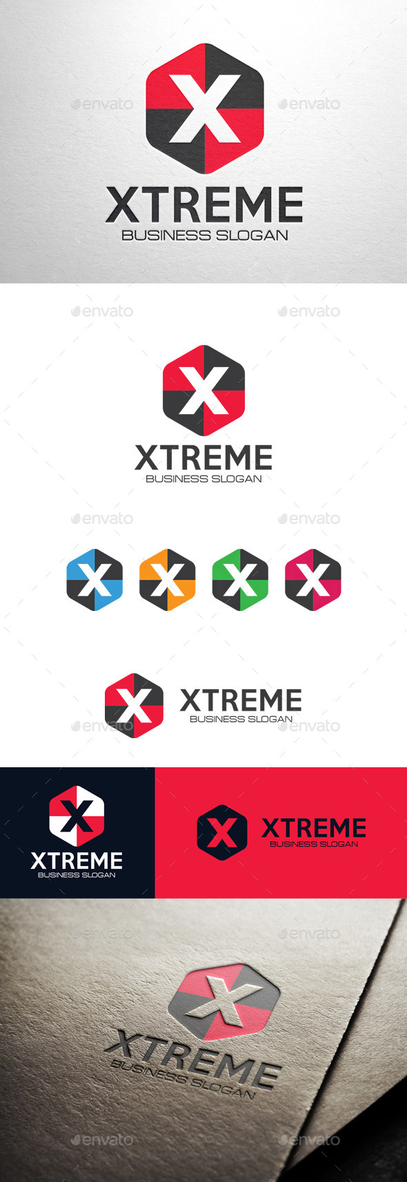 GraphicRiver Xtreme Letter X Logo 11453711