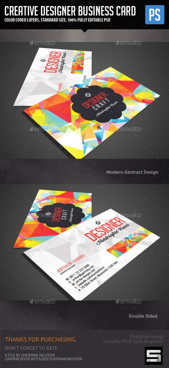 GraphicRiver Creative Design Business Card 11453749