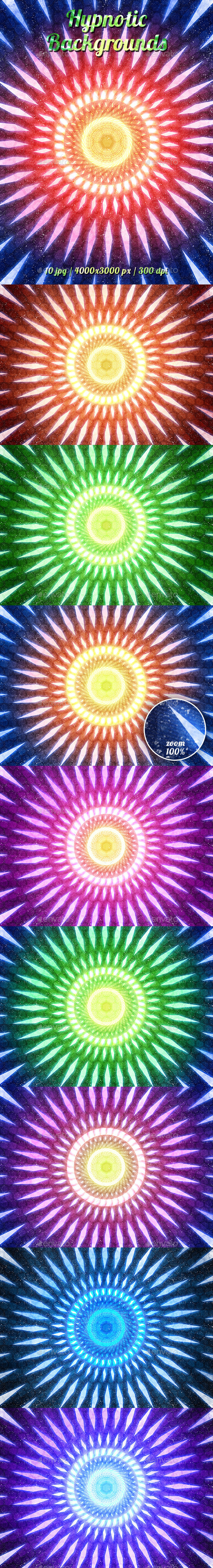 GraphicRiver Hypnotic Backgrounds 11453763