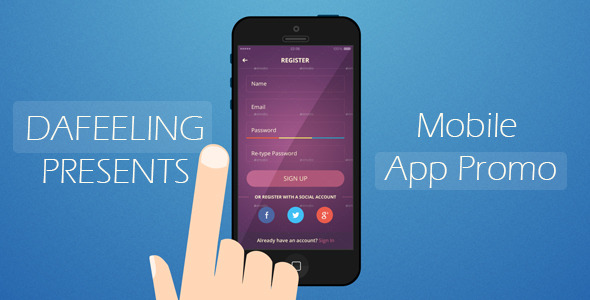 AE模板:扁平化风格 移动手机APP 安卓应用程序开发推广 手势触摸滑动 商业产品促销讲解模板Mobile App Promo 免费下载